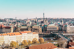 чехословакский панорамный взгляд республики prague Стоковые Фотографии RF