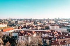 чехословакский панорамный взгляд республики prague Стоковое Изображение RF