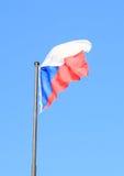чехословакский флаг Стоковые Фотографии RF