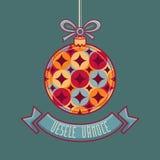 Чехословакский язык Vesele Vanoce рождество 3d изолировало сообщение мегафона над белизной марионетки Стоковое Изображение