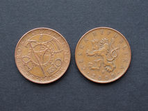 10 чехословакских korunas монетки Стоковые Фотографии RF
