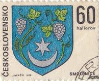 Чехословацкий штемпель почтового сбора стоковые изображения rf