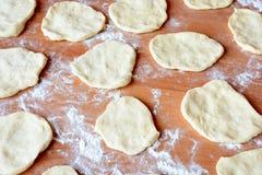 Чех испек плюшки с вареньем и сахаром Стоковые Фото