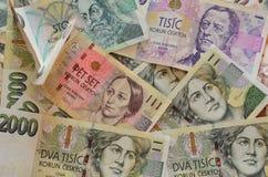 Чех увенчивает валюту Стоковые Фотографии RF