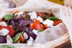 Чечевицы с испеченными овощами Стоковое фото RF