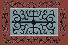 Чеченский традиционный орнамент также вектор иллюстрации притяжки corel Стоковое Изображение RF