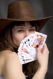чешет девушка играя портрет Стоковое фото RF