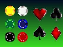 чешет знаки покера Стоковое Изображение