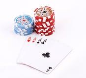 чешет покер Стоковые Изображения