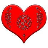 чешет сердце Стоковые Фотографии RF