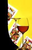 чешет стекла играя вино Стоковое Изображение RF