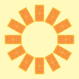 чешет tarot Задняя сторона Sread круга зодиака Стоковое фото RF