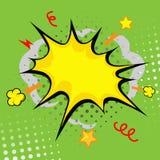 Челка шаржа (шарж - заграждение, взрыв комика иллюстрация вектора