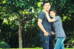 Человек Азии и женщины, концепция влюбленности Стоковое Изображение