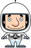 Человек астронавта шаржа усмехаясь иллюстрация вектора