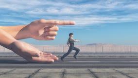 Человек бежать в направлении иллюстрация штока