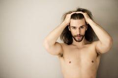 человек без рубашки Стоковое Изображение