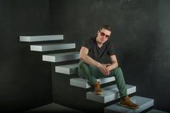 Человек битника фотографии студии Стоковое Фото