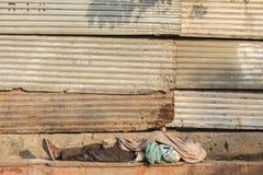 Человек бродяги крышки Стоковые Фотографии RF