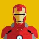 Человек вектора в костюме красного цвета робота Стоковые Изображения