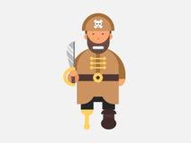 Человек вектора характера пирата Стоковое Фото