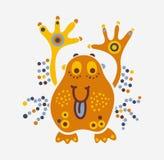Человек вируса бактерий сути твари изверга жизнерадостный маленький тучный Стоковые Фото