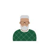 Человек воплощения значка профиля мужской, портрет бороды Гая шаржа битника, вскользь сторона силуэта персоны Стоковое Изображение
