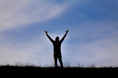 Человек выражая надежду Стоковые Фотографии RF