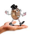 Человек выхода на пенсию в руке Стоковое фото RF