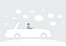 Человек в автомобиле Стоковая Фотография