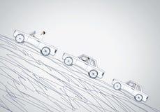 Человек в автомобиле Стоковые Изображения RF