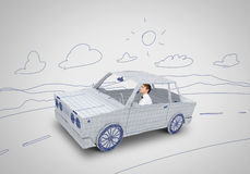 Человек в автомобиле Стоковые Фото