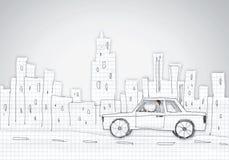 Человек в автомобиле Стоковые Изображения