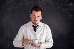 Человек в белой мантии Стоковые Фото