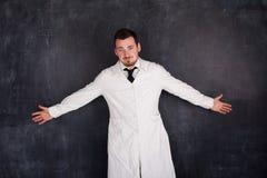 Человек в белой мантии Стоковое Изображение RF