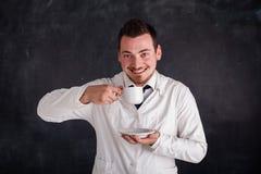 Человек в белой мантии Стоковая Фотография