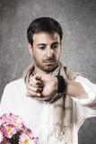 Человек в влюбленности стоковое изображение