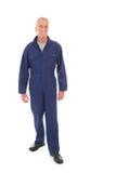 Человек в голубой прозодежде Стоковые Фото