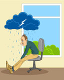 Человек в депрессии Стоковые Изображения RF