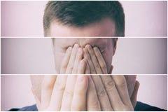 Человек в депрессии Стоковые Фотографии RF