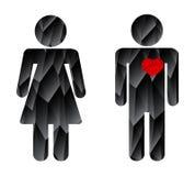 Человек в женщине влюбленности Стоковые Изображения RF