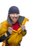 Человек в желтой куртке Стоковые Фотографии RF