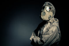 Человек в защитном костюме Стоковые Изображения