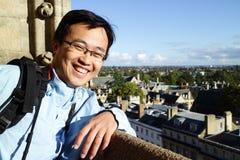 Человек в здании Оксфорда Стоковые Изображения RF