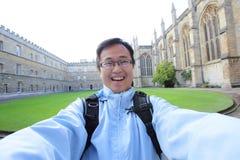 Человек в здании Оксфорда Стоковое фото RF