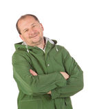 Человек в длинном жилете Стоковое Изображение RF