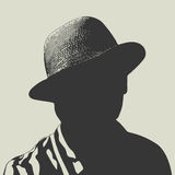 Человек в иллюстрации вектора шляпы Стоковое Фото