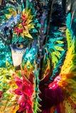 Человек в костюме и маска во время масленицы в Венеции Стоковая Фотография RF