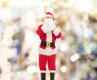 Человек в костюме Санта Клауса с сумкой Стоковое фото RF