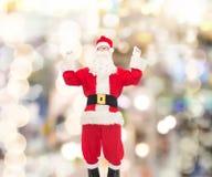 Человек в костюме Санта Клауса Стоковое Изображение